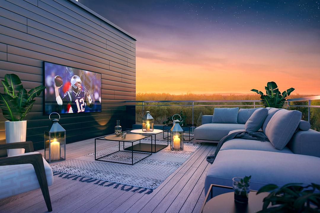 Mont-Laval Phase 3, terrasse privée au toit