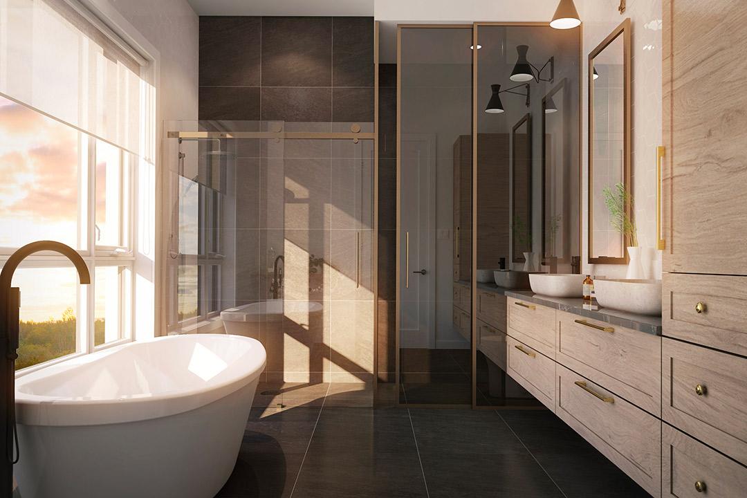 Mont-Laval Phase 3, salle de bain d'un penthouse