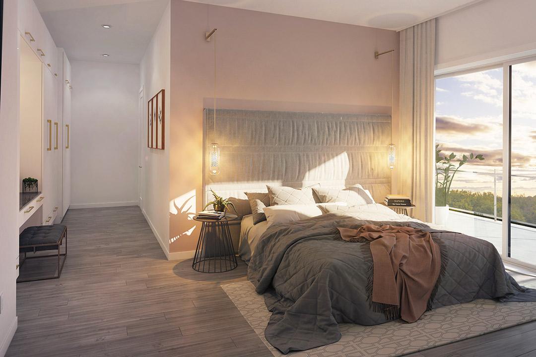 Mont-Laval Phase 3, chambre d'un penthouse