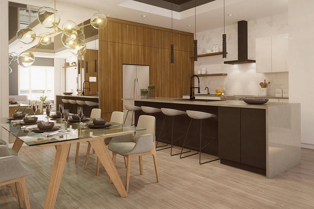 Mont-Laval Phase 3, cuisine d'un penthouse
