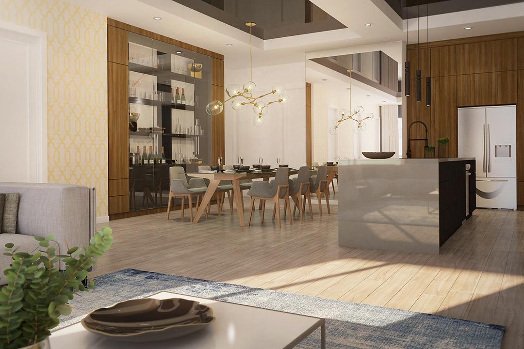 Mont-Laval Phase 3, espace de vie d'un penthouse